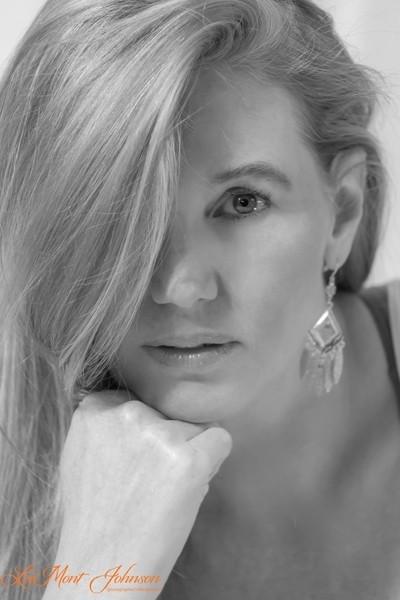Closeup Portrait In Black & White