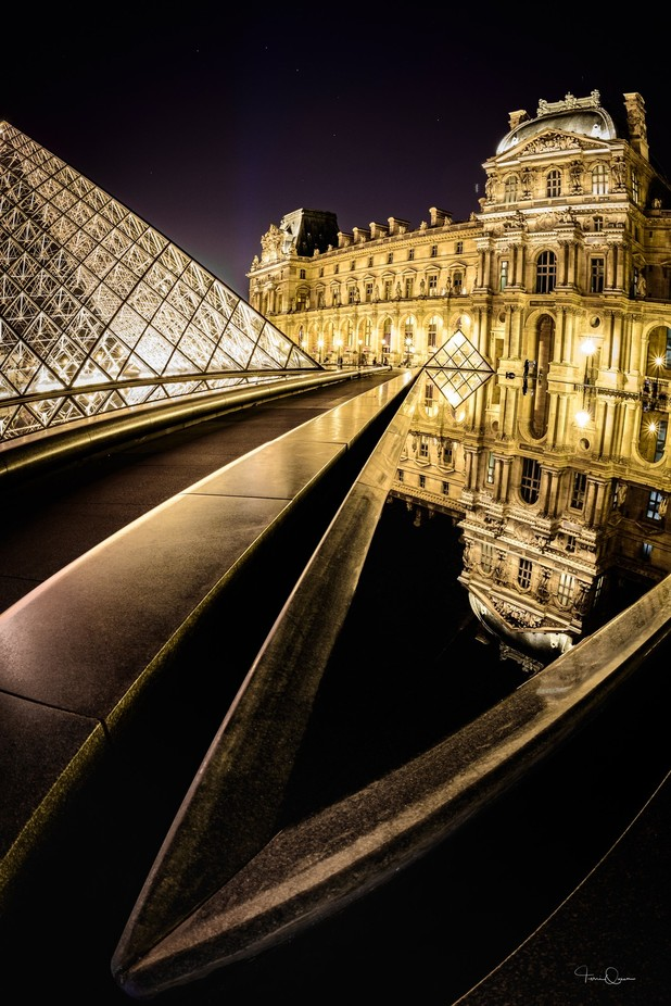 Louvre After Dark ©Terri Queen 5723 by terriqueen - Paris Photo Contest