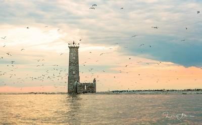Sunset at Mohawk Island Lighthouse