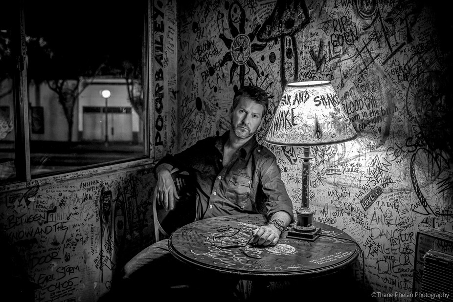 Sat in as the model for the Alta Cienega Motel shoot ... in the historic Jim Morrison room. Peopl...
