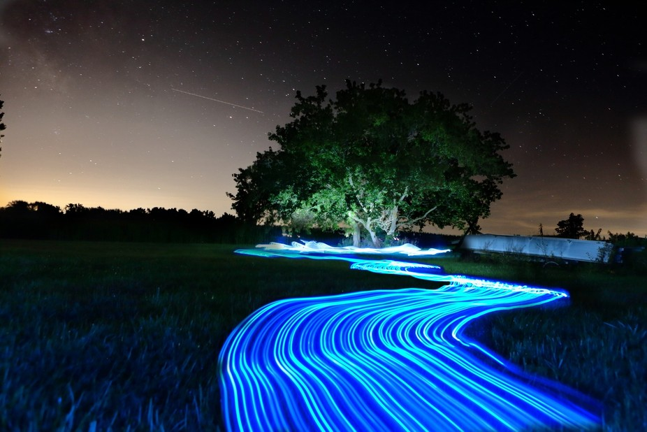 First crack at light painting