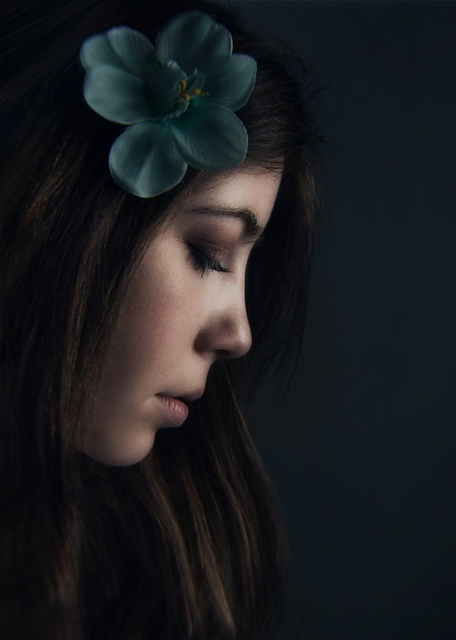 Blue flower by Victoria_Anne - Her In The Studio Photo Contest