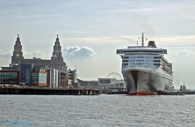 Queen Mary 2 at Liverpool.