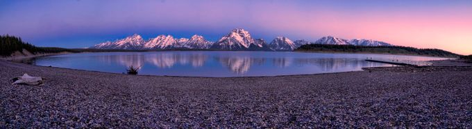 Jackson Lake at Dawn by beckykempf - Bright Colors In Nature Photo Contest