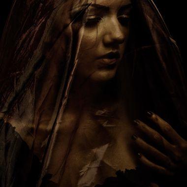 Model, Kristen. Scene of mourning.