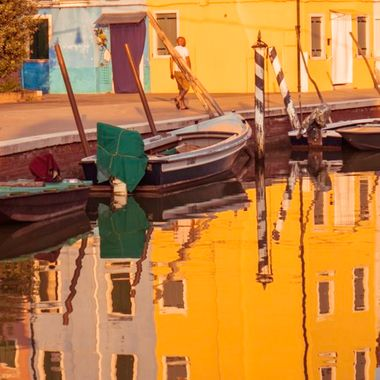 Took this while out enjoying a peaceful walk at sunset along the Fondamenta Canal in Burano, Italy.