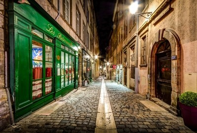 Rue du Boeuf in the Old Lyon