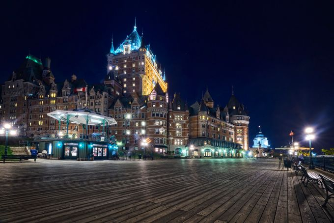 Night in Quebec City by Denis09 - Promenades And Boardwalks Photo Contest