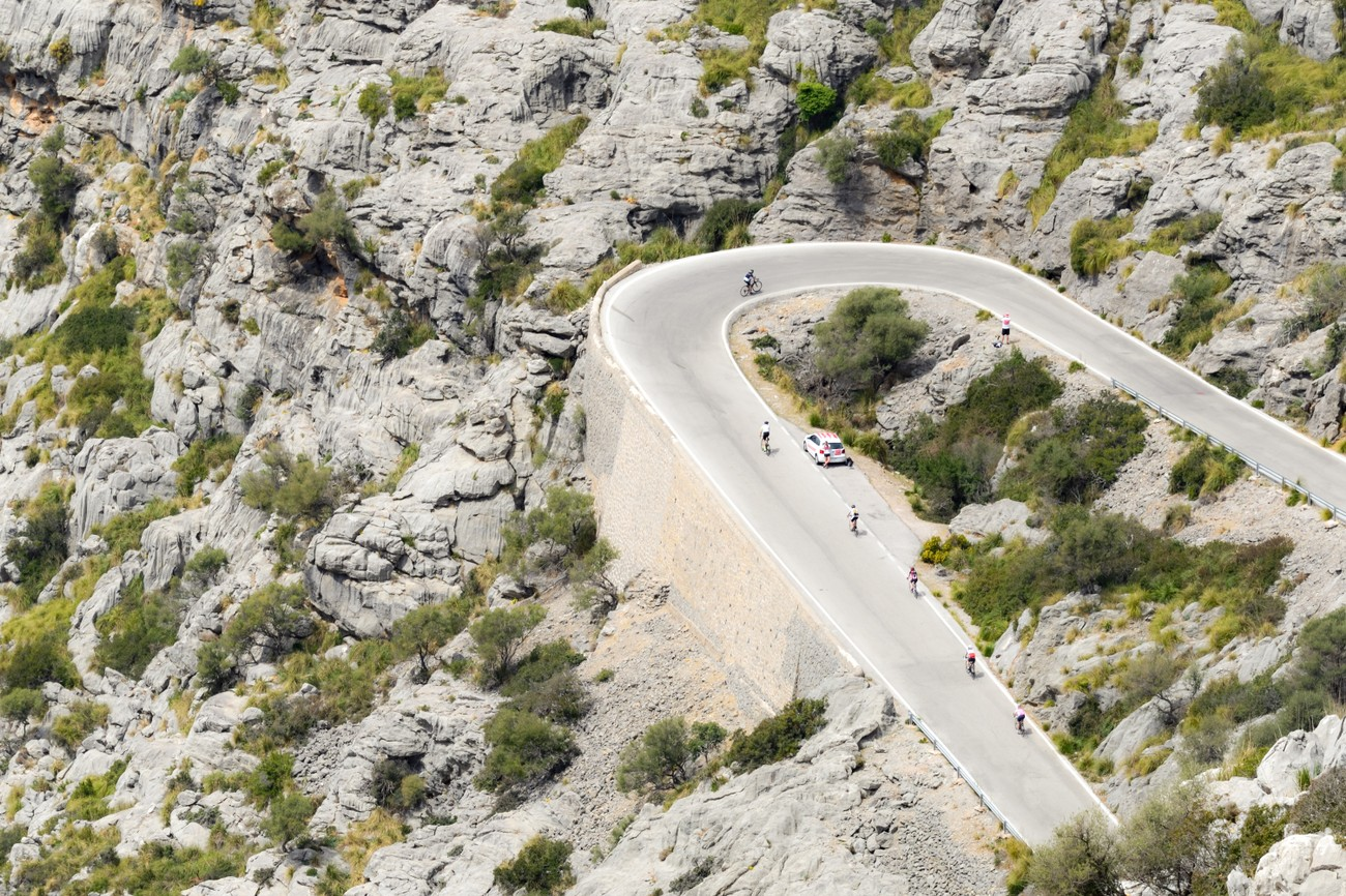 Road Nr 2141 on Mallorca-serpentines non stop-and the road is full of bikers in spring