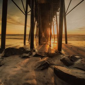The sunset from beneath the Oceanside Pier! What an amazing view!