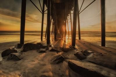 Sun Rays Beneath the Pier!