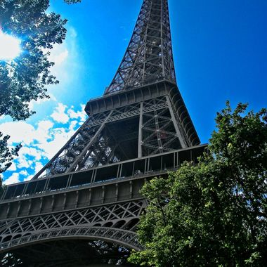 I took this photo when we went on a holiday to Paris, in the year 2009.  This photo was taken in front of the Eiffel Tower.