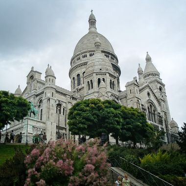 I took this photo when we went on a holiday to Paris, in the year 2009.  This photo was taken next to the Sacred Heart Basilica of Montmarte.
