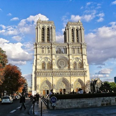 I took this photo when we went on a holiday to Paris, in the year 2009.  This photo was taken in front of the Notre Dame Cathedral.