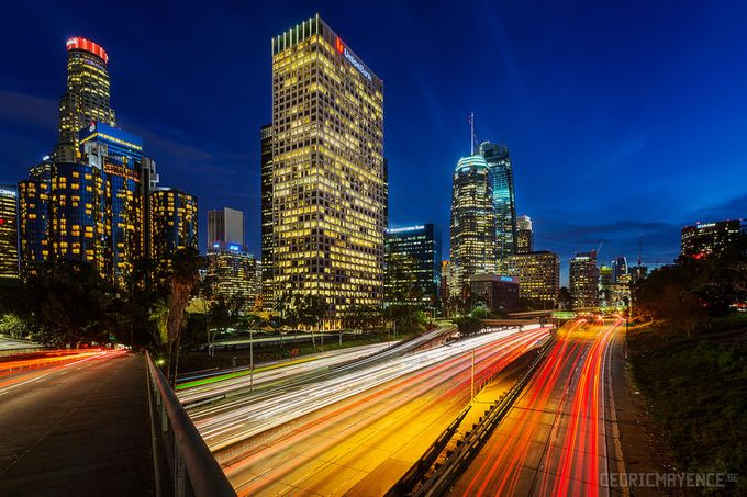 Los Angeles Highway (US) by CedricMayence - Diagonals And Composition Photo Contest