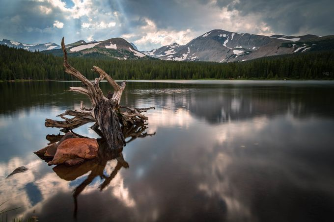 Brainard Lake Log - Afternoon by KColbyPhotography - Simply HDR Photo Contest