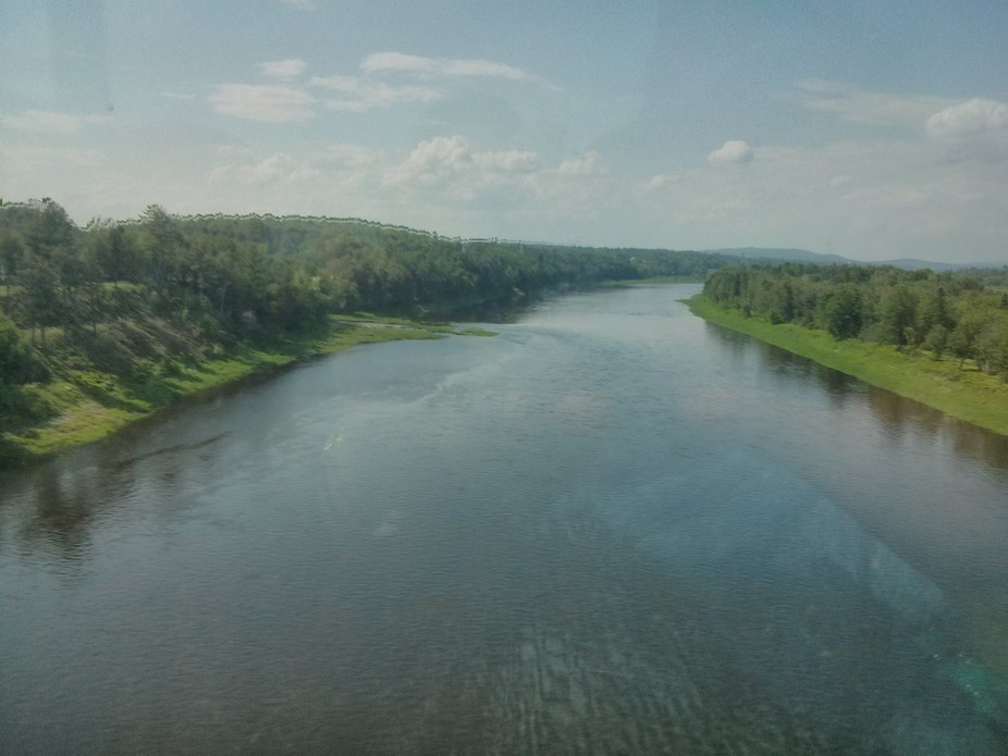 "This New Brunswick river & forest landscape once known as the ""picture province&..."