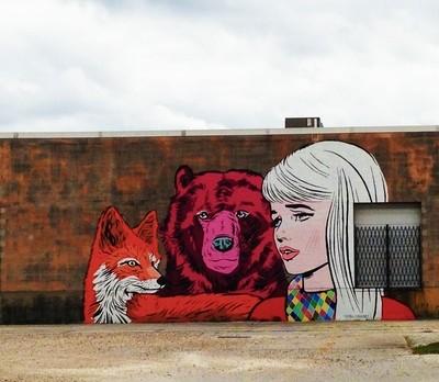 Street Art in Houston, Texas, USA