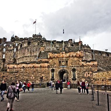 I took this photo when me and my family were in Edinburgh, Scotland in the year 2014.  This was taken at the entrance to the castle.