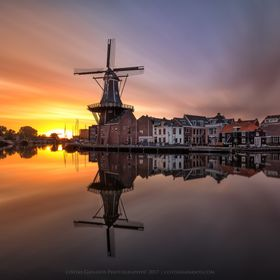 A magical sunrise in the timeless city of Haarlem in the Netherlands.