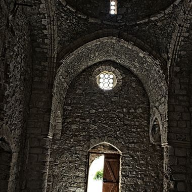 I took this photo at Büyükkonuk Village, in Cyprus, in the year 2015.  This photo was taken in an old church.