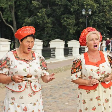 I took this photo when me and family were walking along one of the streets in Uglic Town, in the year 2013. We came accross these women singing a Russian song and I took their photo.