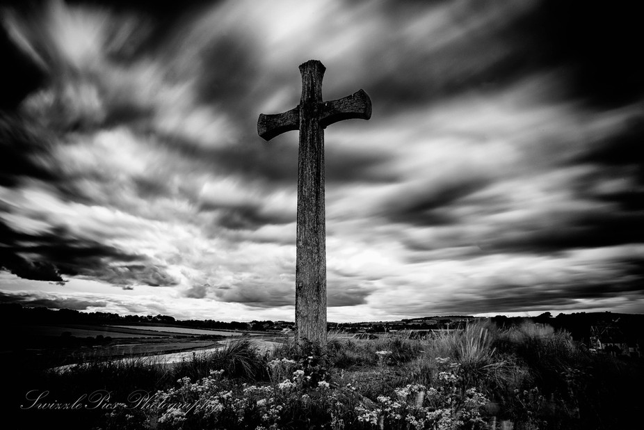 Cross on the hill opposite Alnmouth.