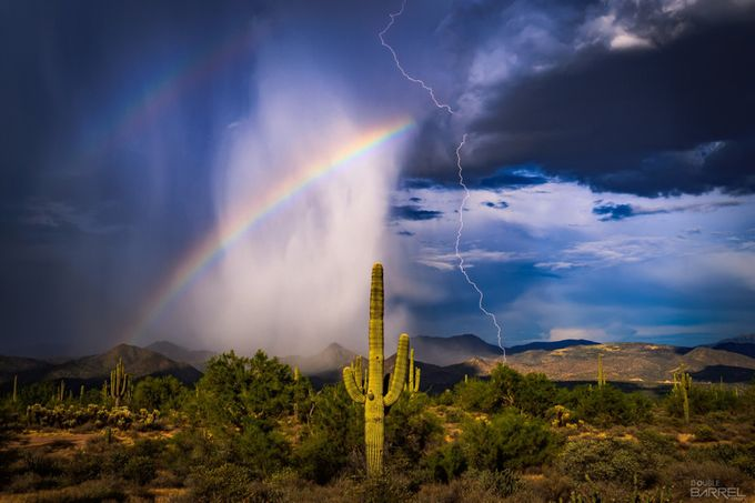 Tonto Monsoon by doublebarrelimages - Rainbows Overhead Photo Contest