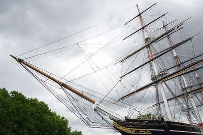 LONDON - JULY 30 : View of the Cutty Sark in London on July 30, 2017