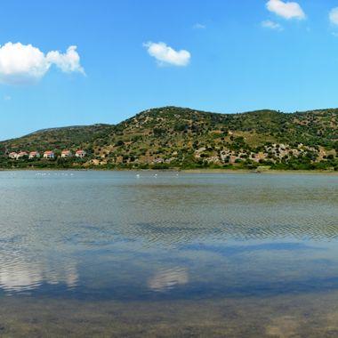 Salt Flats still flooded in early spring. Location Samos Island by Psilli Ammos.