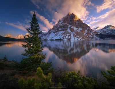 Amanecer en Emerald Lake.