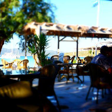The Cafe Bar at Posidonio Samos.