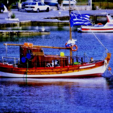 A Greek fishing boat done in HDR.