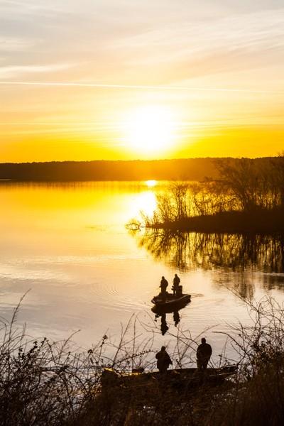 Fishing At Sunrise by LaMont L. Johnson-5834