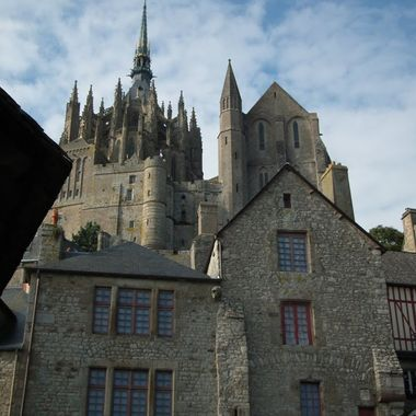 The beautiful Mont St Michael in Normandy France.