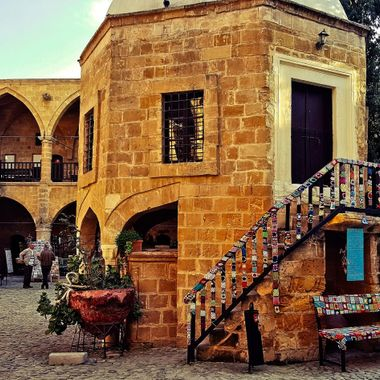 I took this photo when we drove to Nicosia from Famagusta in January of 2017. This photo was taken in Büyük Han, which is in the old section of Nicosia (Turkish District).