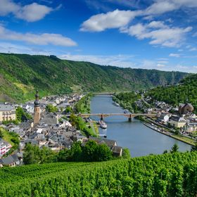 wonderful view over Cochem an the Moselle, Rheinland-Pfalz, Germany