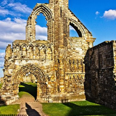 I took this photo when me and family went to St. Andrews, Scotland in the year 2015. This photo is the ruins of St. Andrews Cathedral.