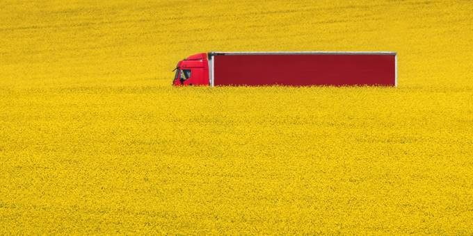 Red on yellow by alekrivec - Trucks Photo Contest
