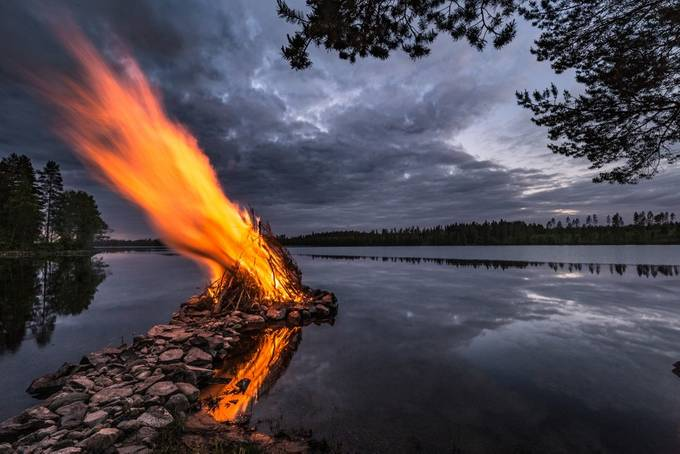 Midsummer bonfire by timoksanen - Shooting Fire Photo Contest