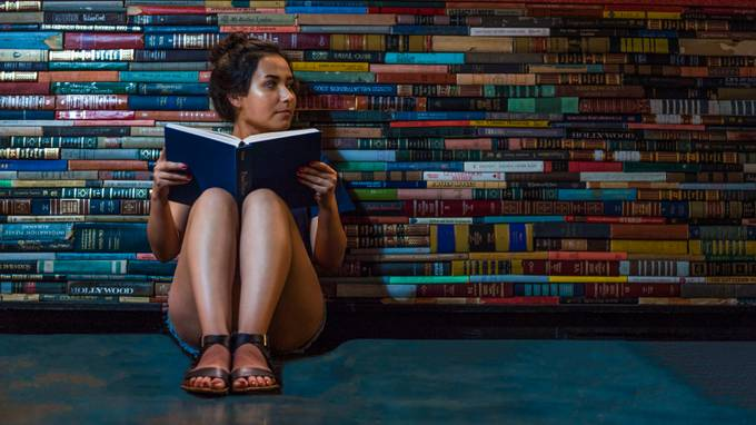The Girl and Her Books by mea115546 - Compositions 101 Photo Contest vol4