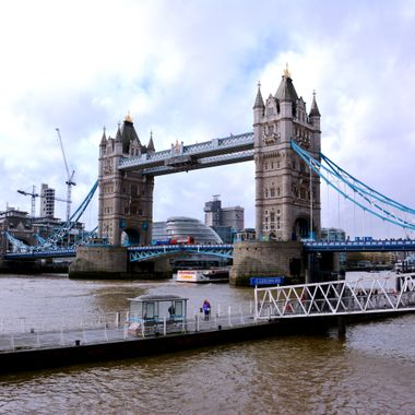 Photo of Tower Bridge in London year 2014.
