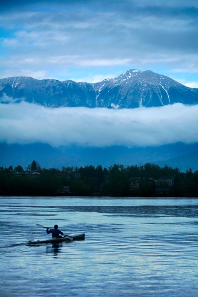 Rowing With the Slovenian Mountains
