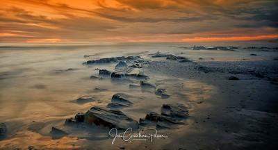 Sunset at my hometown beach of Melkbosstrand, West Ciast, south Africa
