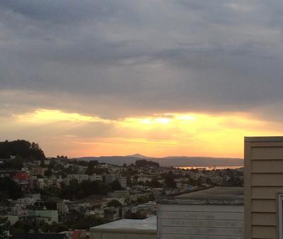 Sunrise view San Francisco Bay and Mt. Diablo