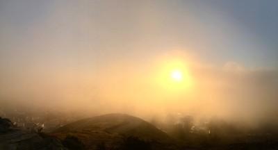 Foggy sunrise at Twin Peaks