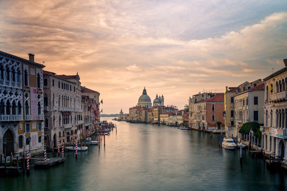 Morning Grand Canal from Ponte dell'Accademia