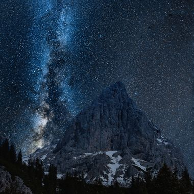 "Stunning milky way over the ""Admonter Kaibling"""