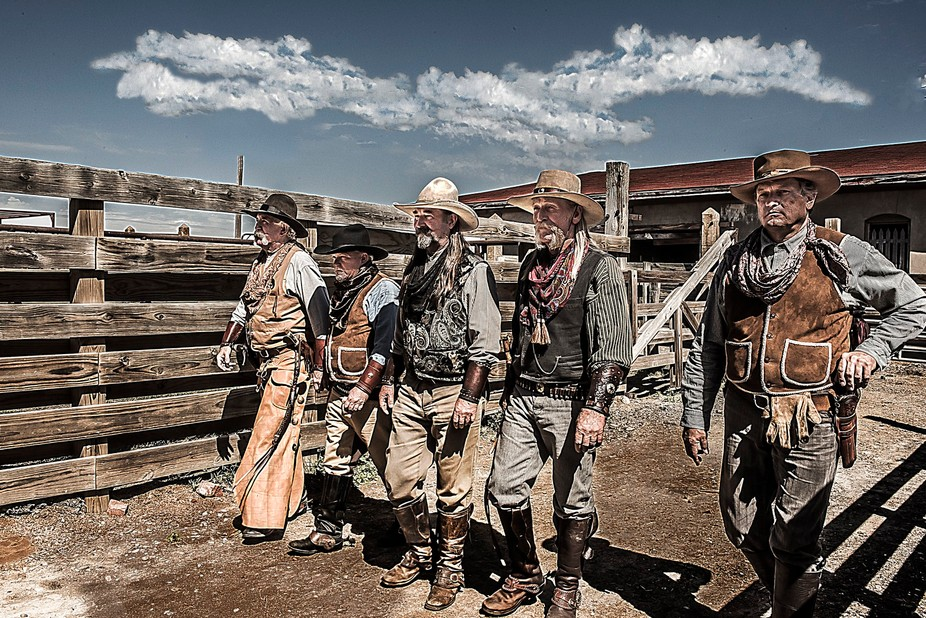 This Cowboy Posse is part of my Western Portrait Series.  The Texas Legends who dress in period d...
