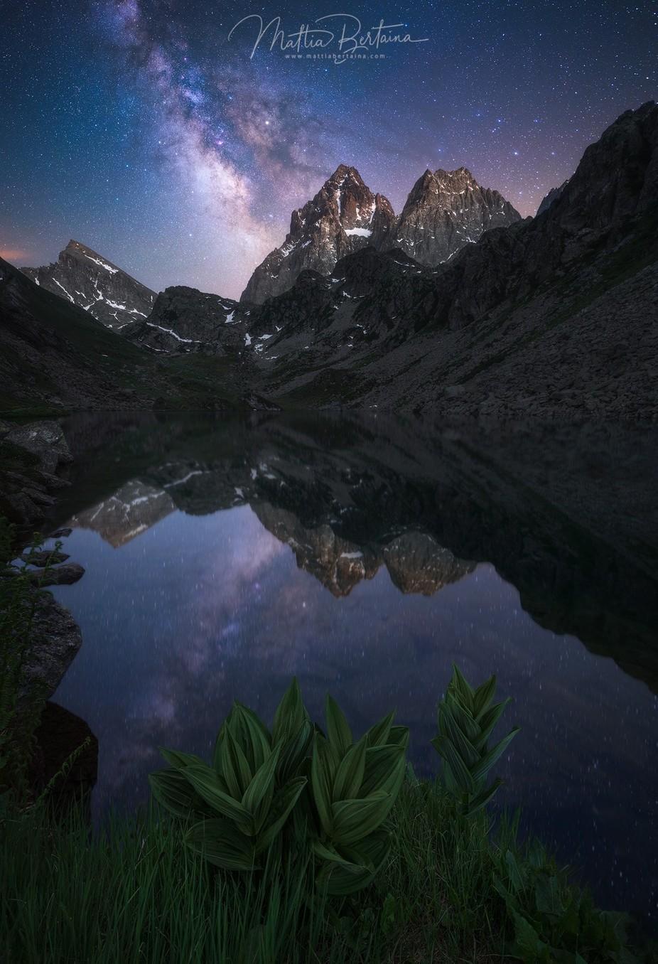 Monviso by night by Mattia_Bertaina - Spectacular Lakes Photo Contest